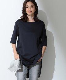 Demi-Luxe BEAMS/ATON / スビン ラウンドヘム Tシャツ/501409571