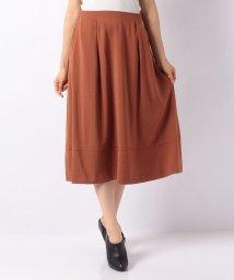 MELROSE Claire/ツイルジョーゼット裾切替えタックフレアスカート/501508048