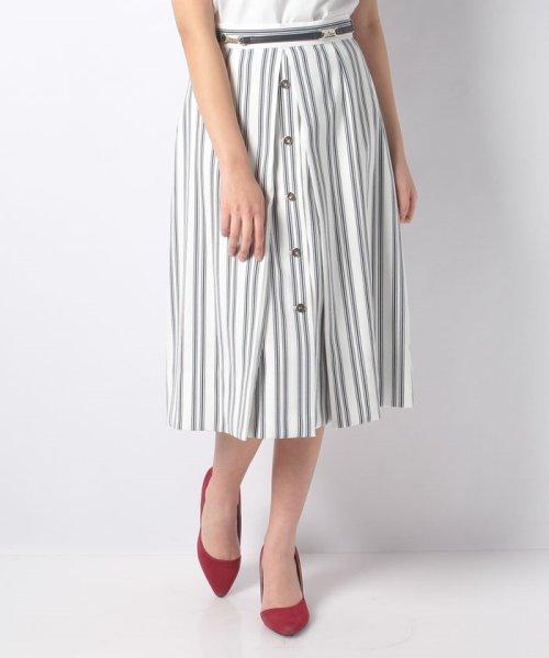 JUSGLITTY(ジャスグリッティー)/ベルト付ストライプAラインスカート/49131150