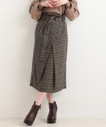 MAJESTIC LEGON/スペアベルト付Iラインスカート/501353596