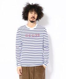 LHP/GUESS/ゲス/ボーダーロゴ ロングスリーブTシャツ/501518988