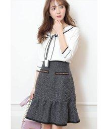 Rirandture/ツイード切り替えAラインスカート/501519622