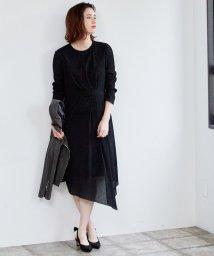 ROPE' mademoiselle/シャーリングタックアシメワンピース/501522130