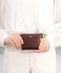 ninon/【本革】 リボンチャーム 二つ折り財布 / ミニウォレット/501522477