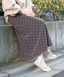 ADAM ET ROPE'/【WEB限定】ドットAラインスカート/501522718