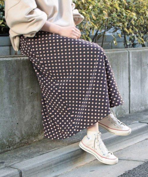 ADAM ET ROPE'(アダム エ ロペ)/【WEB限定】ドットAラインスカート/GAC59090