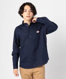 GLOSTER/【DANTON/ダントン】リネン丸襟プルオーバーシャツ JD-3568KLS/501524410