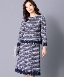 Leilian/【特別提供品】ツイードブラウス&スカートセット/501472759