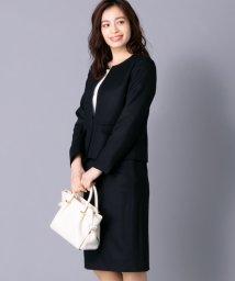 Leilian PLUS HOUSE/【特別提供品】ノーカラージャケット×スカートスーツ/501480994