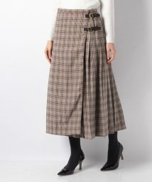 petit main LIEN/プリーツチェック巻きスカート/501517971
