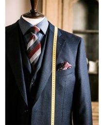 GRAND-BACK/【大きいサイズ】ALEXANDER JULIAN ALFRED BROWN(アルフレッドブラウン)シャドーグレンチェック紺KB体スーツ/501525494