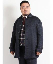 GRAND-BACK/【大きいサイズ】セーターフリースセットインスリーブハーフコート/501525536
