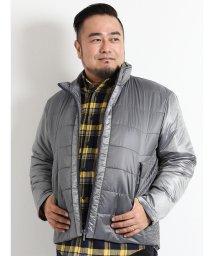 GRAND-BACK/【大きいサイズ】シャドー千鳥ランダムキルト中綿ブルゾン/501525621