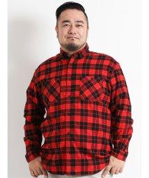 GRAND-BACK/【大きいサイズ】ネル両ポケットレギュラーカラー長袖シャツ/501525628