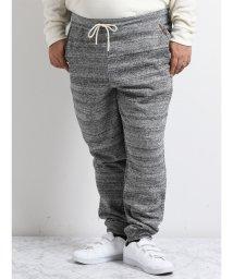GRAND-BACK/【大きいサイズ】カスレ杢裏毛刺繍スウェットパンツ/501525677