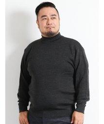GRAND-BACK/【大きいサイズ】スムース無地ハイネックセーター/501525852