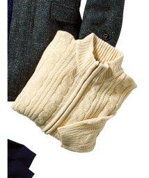 GRAND-BACK/【大きいサイズ】モールケーブルフルジップセーター/501525856