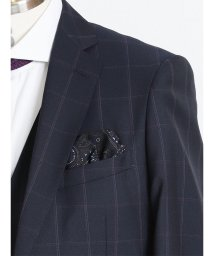 GRAND-BACK/ALEXANDERJULIAN MADE IN ITALY ウールポケットチーフ/501525917