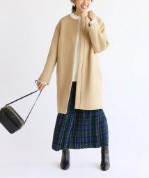 IENA/二重織りシャルムノーカラーコート◆/501527673