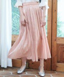 ROPE' PICNIC/【WEB限定カラー:ネイビー】シャイニープリーツスカート/501528359