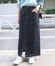SLOBE IENA/《追加》LE DENIM タイトロングデニムスカート◆/501528504