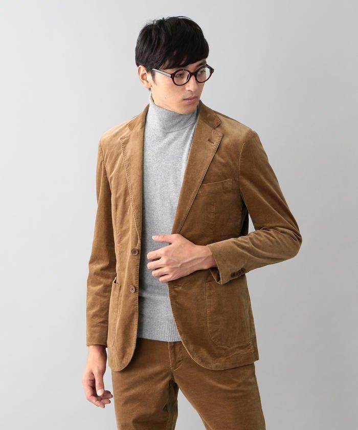 【EASY DRESSING】 ストレッチコーデュロイ シングル2Bジャケット