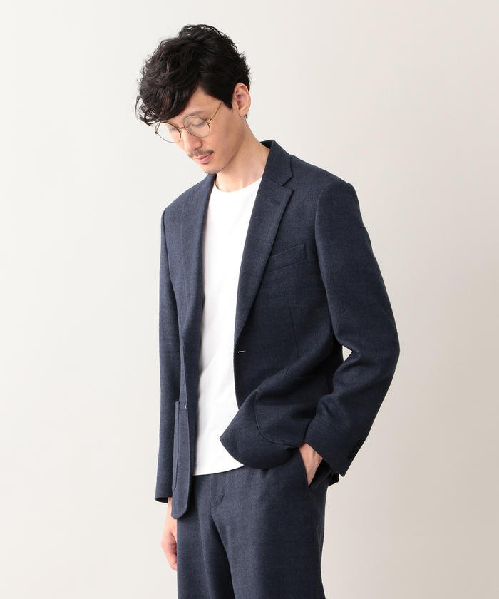 【EASY DRESSING】 ヒートツィード シングル2Bジャケット