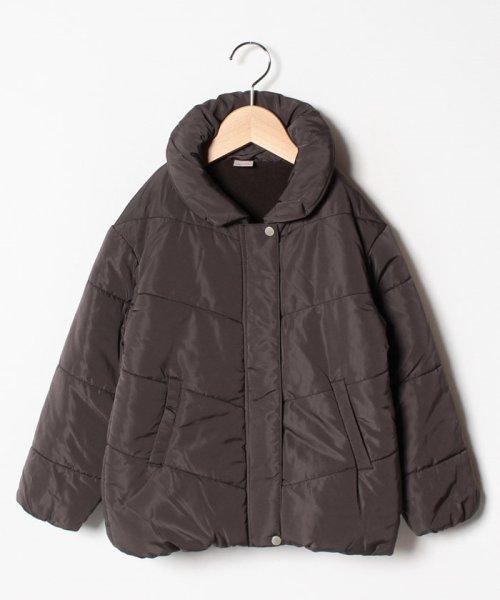 petit main(プティマイン)/ベロア調リボンつき裏起毛中わたジャケット/9684324