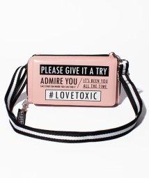 Lovetoxic/ショルダーつき2WAYフェイクレザーロゴウォレット/501520051