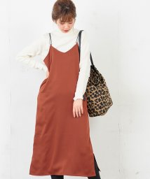 NICE CLAUP OUTLET/【natural couture】サテンキャミワンピ/501522067