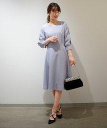 Eimy Peral/【ドレスライン】7分袖スリットレースドレス/501518067