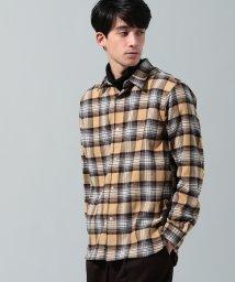 JUNRed/ネルチェックレギュラーカラーシャツ/501530644
