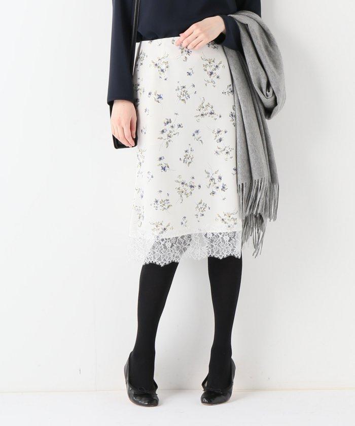 La TOTALITE マイクロサテンフラワースカート