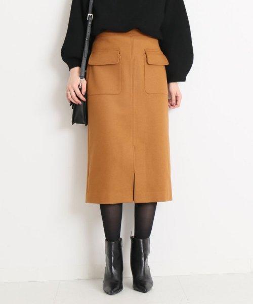 Spick & Span(スピック&スパン)/ウールカシミヤWポケットタイトスカート◆/18060200596040
