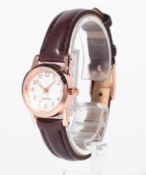 SELECT/〈nattito/ナティート〉Petit leather watch ブラウニー/501502096