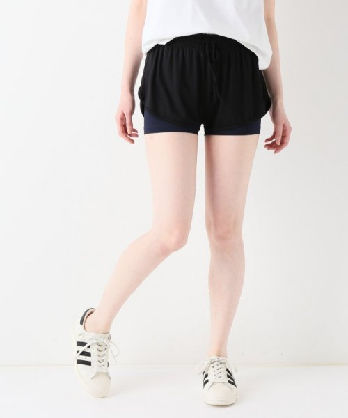 journal standard  L'essage (ジャーナルスタンダード レサージュ)/【ABOUT】 WOMAN DOUBLE LAYER SHORTS/18070380005110