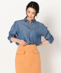 NOLLEY'S/パール釦テンセルデニム裾2-WAYシャツ/501530321
