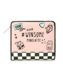 PINK-latte/イラスト二つ折り財布/501539617
