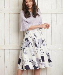 Noela/オリジナル幾何柄スカート /501540289