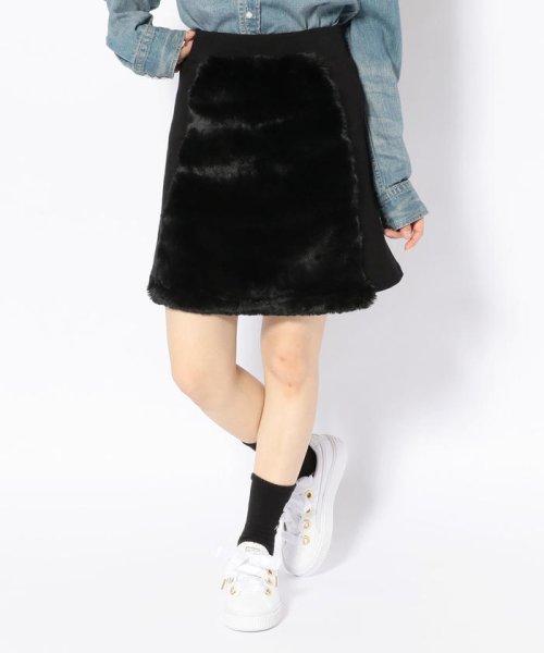 LHP(エルエイチピー)/chica/チカ/ファー切り替えスカート/6016183027-60