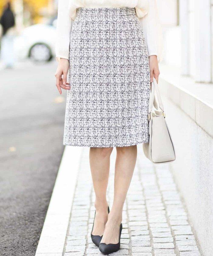 【セットアップ対応】フォレスタツイードセミタイトスカート