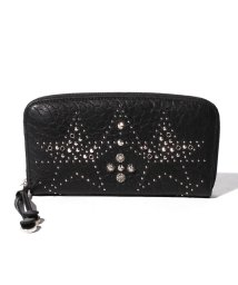 JIMMY CHOO/【JIMMY CHOO】レディースラウンドファスナー財布 GRAINYLEATHER W/GRAPHIC STAR STUDDED EM/501529168