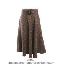GROWINGRICH/[ボトムス スカート]起毛生地で落ち着いた印象 起毛チェック柄フレアースカート[181231]/501542055