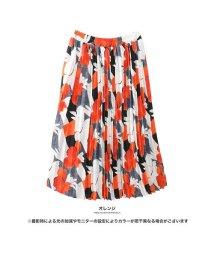 GROWINGRICH/[ボトムススカート]シンプルニットとの相性◎レトロ花柄プリーツスカート[181235]/501542085