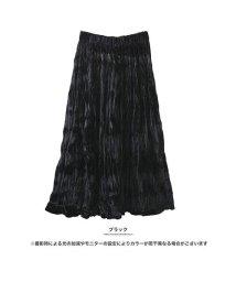 GROWINGRICH/[ボトムス スカート]動くたび変わる表情 ベロア調ハンドプリーツスカート[181240]/501542088