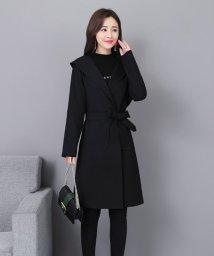 Afelice/フード付きトレンチコート 韓国 ファッション レディース シンプル かわいい オシャレ あったか【A/W】【ra-2074】/501542563