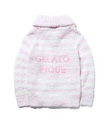 gelato pique/ジェラート'ナヴァルボーダーショールカーディガン/501542670