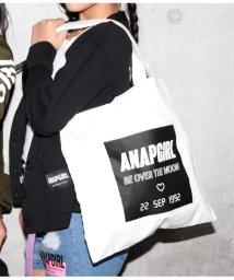 ANAP GiRL/BOXプリントポケット付トートバッグ/501542718
