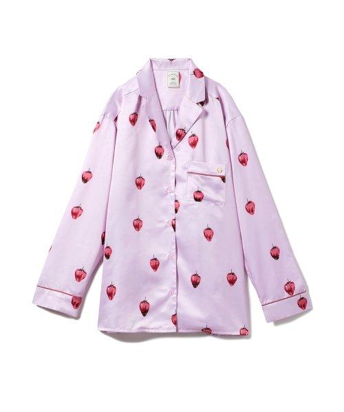 gelato pique(gelato pique)/ストロベリーチョコサテンシャツ/PWFT191257