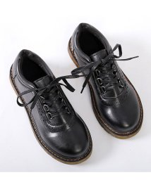 miniministore/オックスフォードシューズ レディース レースアップ 厚底 ローカットおじ靴 マニッシュローファー靴/501543857